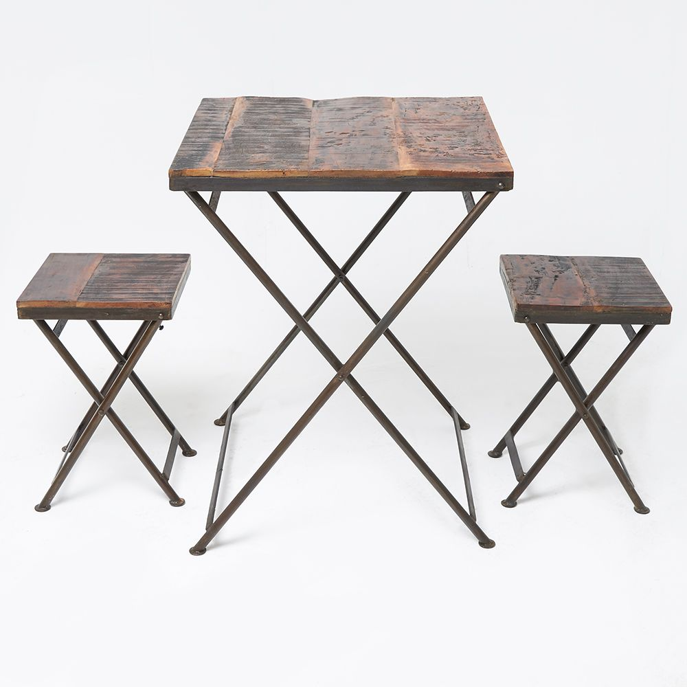 Reclaimed Wood Folding Bistro Table